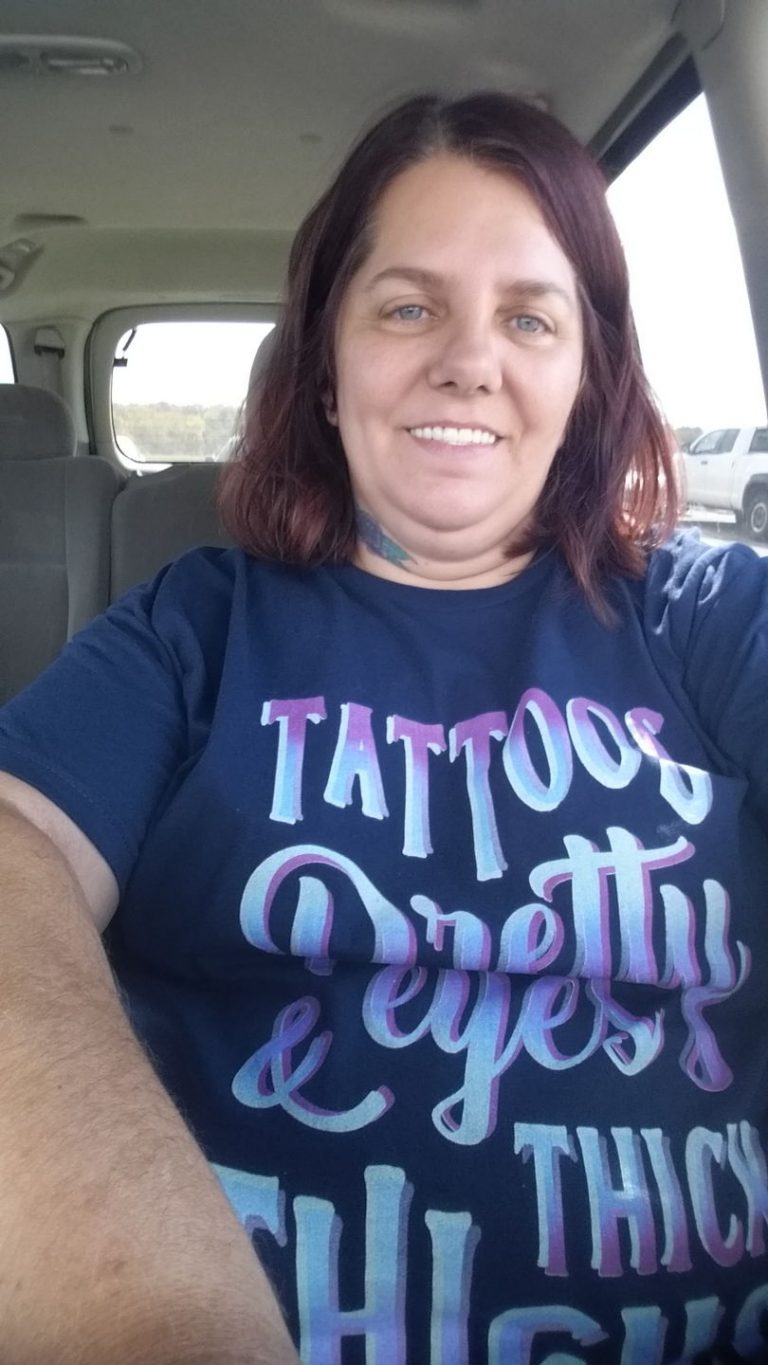 TATTOOS PRETTY EYES AND THICK THIGHS T shirt photo review